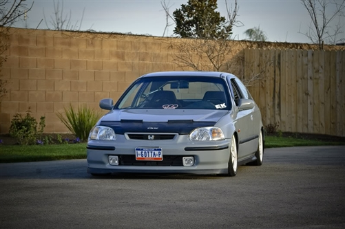 Honda Civic 1996 - 1998 SIR Factory OE STYLE Front Bumper Lip Spoiler Poly-Urethane