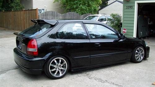 1996 2000 Honda Civic Hatchback Sir Custom Wing No Light