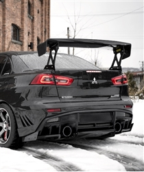 "2008-2015 Mitsubishi Evo 10 Ultra V Rear Bumper "" varis ultimate rear style """