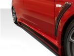 2008-2015 Mitsubishi Evo 10 Z Speed Side Skirts (charge speed style)