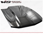 2010-2012 Ford Mustang 2Dr Cowl Induction Carbon Fiber Hood