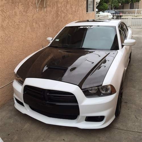 2011 2013 Dodge Charger 4dr Srt Carbon Fiber Hood