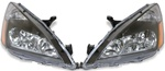 03 - 06 Honda Accord  05 - 06 Hybrid Black Housing Headlights