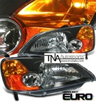 2001-2003 Honda Civic  JDM Headlights-Black