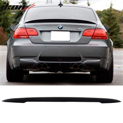 Fits 07 13 Bmw E92 Coupe Performance High Kick Unpainted Abs Trunk Spoiler Wing