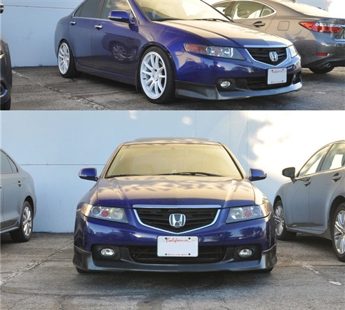 Acura TSX OEM Aspec Style Front Bumper Lip Polyurethane - Acura tsx bumper