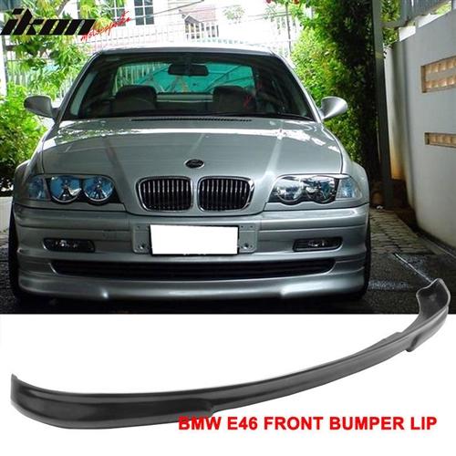 Fits 99 01 Bmw E46 3 Series 4dr Sedan H2 Style Front Bumper Lip Urethane