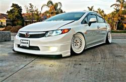Honda Civic Si 2012 For Sale >> 2012 HONDA CIVIC 4DR JDM MUGEN FRONT HALF LIP WITH CARBON STYLE LIP (PPR)