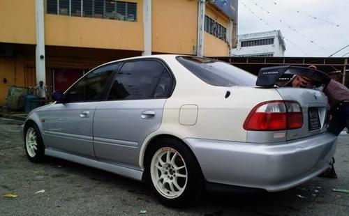 96-00 Honda Civic 2/4 door Trunk Spoiler Mugen Style (plastic)